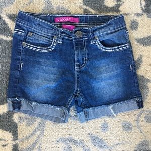 Girls size 12 denim shorts by Vigoss. Like new.